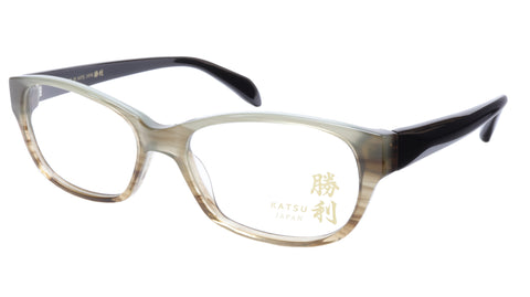 KATSU K8055 COL2 Eyeglasses Frame Acetate Soft Pastel Brown 55-19-145 Japan - Frame Bay