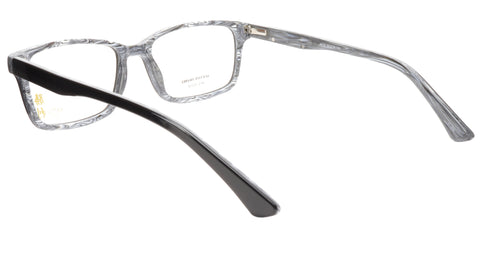 Image of KATSU 6610 Eyeglasses Frame Acetate Black White Swirl Lacquer 55-18-145 Japan