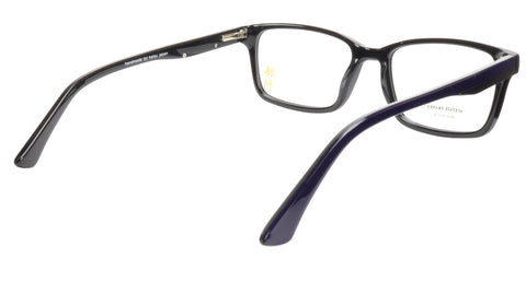 Image of KATSU 6610 C4 Eyeglasses Frame Acetate Dark Blue Black 55-18-145, 40 vertical