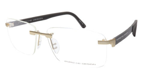Porsche Design P8236 Dark Brown Matte Gold Eyeglasses Frame Italy 58-14-140, 37 - Frame Bay