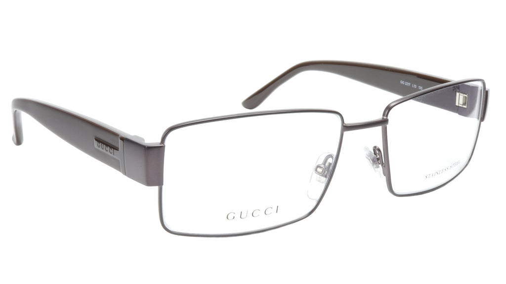 Gucci GG2217 L13 Chocolate Metal Acetate Eyeglasses frame Italy 55-16-135, 35