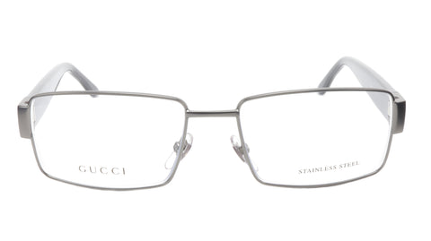 Gucci GG2217 L11 Dark Ruthenium Metal Acetate Eyeglasses Italy 53-16-135, 35