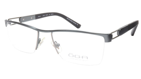 OGA Morel Eyeglasses Frame 75220 BG012 Metal Grey Black France 53-18-140, 33 - Frame Bay