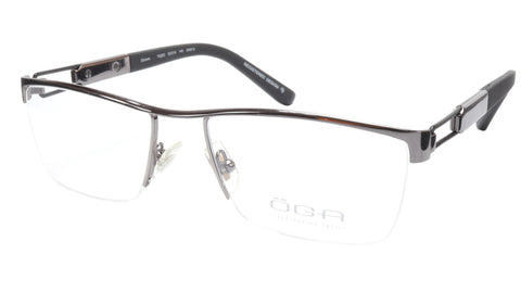 OGA Morel Eyeglasses Frame 75220 GN013 Metal Gunmetal Black France 53-18-140, 33 - Frame Bay
