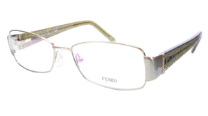 FENDI Eyeglasses Frame F908R (317) Metal Acetate Green Italy 54-16-130, 33