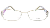 FENDI Eyeglasses Frame F908R (317) Metal Acetate Green Italy 54-16-130, 33 - Frame Bay