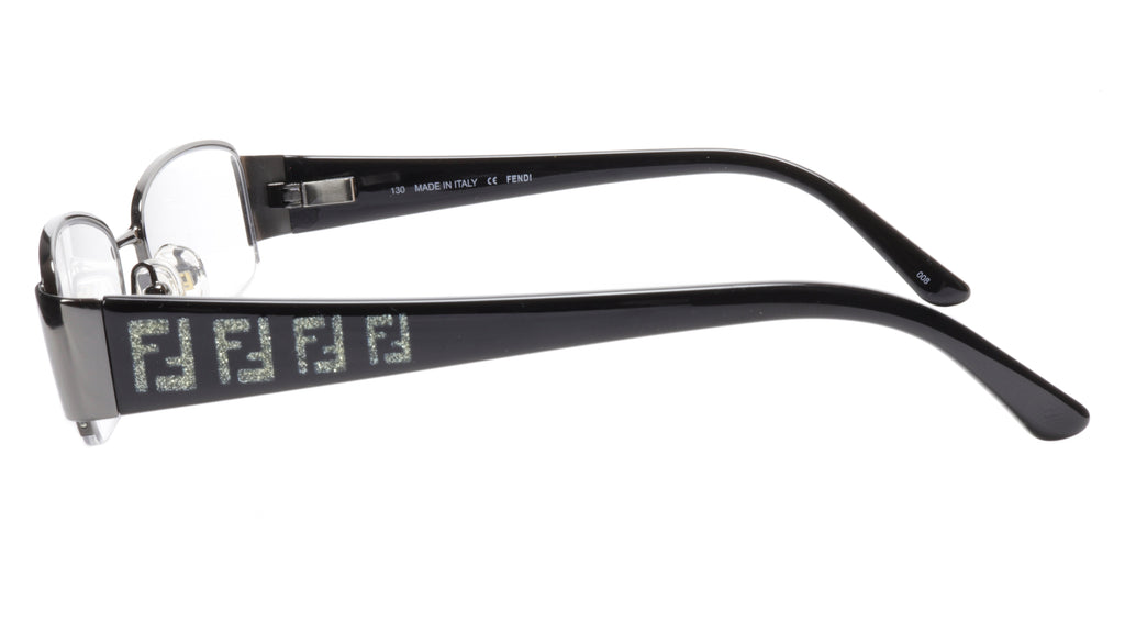 FENDI Eyeglasses Frame F894 (035) Metal Dark Gunmetal Italy Made 51-17-130, 28