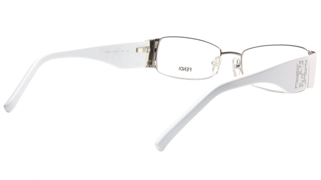 FENDI Eyeglasses Frame F923R (028) Metal Chrome White Italy Made 52-16-135, 28