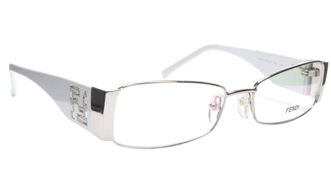 Image of FENDI Eyeglasses Frame F923R (028) Metal Chrome White Italy Made 52-16-135, 28