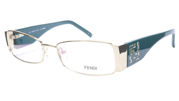 FENDI Eyeglasses Frame F932R (758) Acetate Gold Blue Italy Made 52-16-135, 28 - Frame Bay