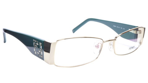 FENDI Eyeglasses Frame F932R (758) Acetate Gold Blue Italy Made 52-16-135, 28