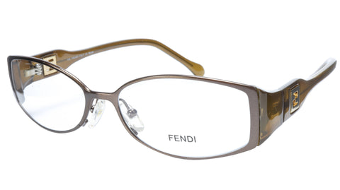 FENDI Eyeglasses Frame F707 (205) Metal Acetate Brown Italy Made 54-15-135, 31