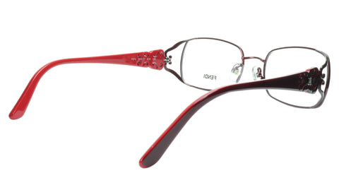 FENDI Eyeglasses Frame F872 (615) Metal Acetate Bordeaux Italy Made 52-17-135 34