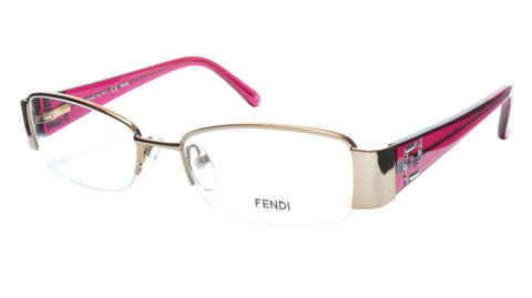 FENDI Eyeglasses Frame F1043R (663) Metal Gold Rose Italy Made 51-17-135, 28 - Frame Bay