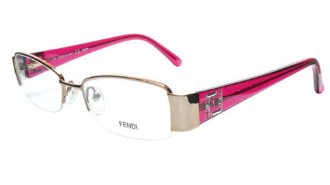 FENDI Eyeglasses Frame F1043R (663) Metal Gold Rose Italy Made 51-17-135, 28