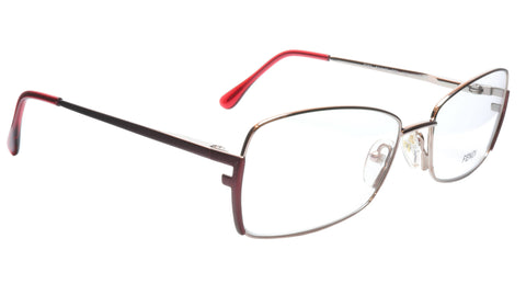 FENDI Eyeglasses Frame F959 (688) Metal Shiny Rose Italy Made 54-16-135, 33