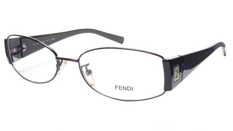 FENDI Eyeglasses Frame F606R (539) Metal Dark Violet Italy Made 54-16-130, 32 - Frame Bay