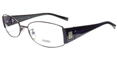 FENDI Eyeglasses Frame F606R (539) Metal Dark Violet Italy Made 54-16-130, 32