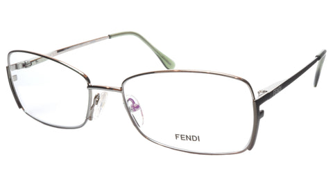 FENDI Eyeglasses Frame F959 (756) Metal Golden Sage Italy Made 54-16-135, 33 - Frame Bay