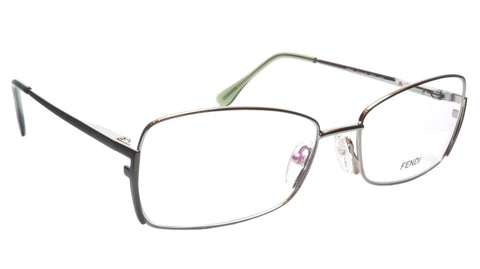 FENDI Eyeglasses Frame F959 (756) Metal Golden Sage Italy Made 54-16-135, 33
