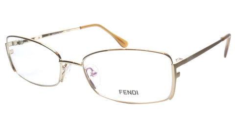 FENDI Eyeglasses Frame F960 (714) Women Metal Gold Italy Made 52-16-135, 31 - Frame Bay