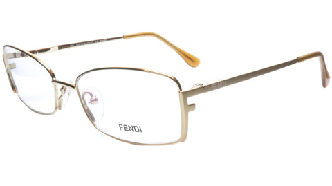 FENDI Eyeglasses Frame F960 (714) Women Metal Gold Italy Made 52-16-135, 31