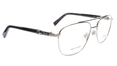 ZILLI Eyeglasses Frame Titanium Acetate Silver Black France Made ZI60022 C07 053