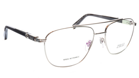 Image of ZILLI Eyeglasses Frame Titanium Acetate Silver Black France Made ZI60022 C07 053