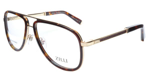 ZILLI Eyeglasses Frame Titanium Acetate Gold Scale France Made ZI60020 C02 087