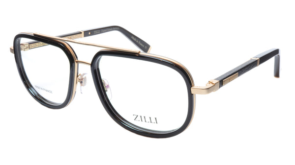 ZILLI Eyeglasses Frame Titanium Acetate Black Gold France Made ZI60021 C01 - Frame Bay