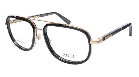 ZILLI Eyeglasses Frame Titanium Acetate Black Gold France Made ZI60021 C01 060