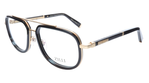 Image of ZILLI Eyeglasses Frame Titanium Acetate Black Gold France Made ZI60021 C01 060
