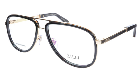 Image of ZILLI Eyeglasses Frame Titanium Acetate Gold Black France Made ZI60020 C01 037