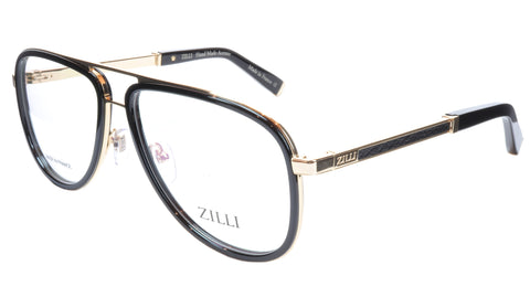 ZILLI Eyeglasses Frame Titanium Acetate Gold Black France Made ZI60020 C01 037