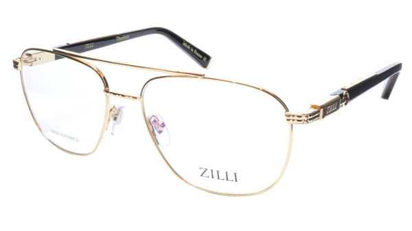 ZILLI Eyeglasses Frame Titanium Acetate Gold Black France Made ZI60022 C01 - Frame Bay