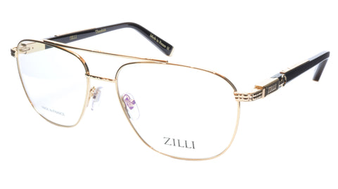 ZILLI Eyeglasses Frame Titanium Acetate Gold Black France Made ZI60022 C01 107