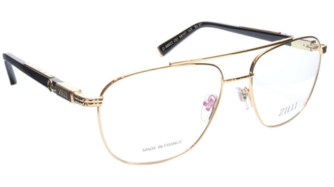 Image of ZILLI Eyeglasses Frame Titanium Acetate Gold Black France Made ZI60022 C01 107