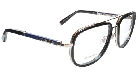 ZILLI Eyeglasses Frame Titanium Acetate Silver Blue France Made ZI60021 C02 127