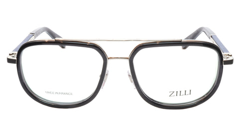Image of ZILLI Eyeglasses Frame Titanium Acetate Silver Blue France Made ZI60021 C02 127