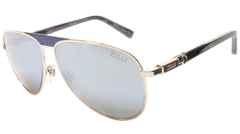 ZILLI Sunglasses Titanium Acetate Leather Polarized France ZI 65021 C07 033