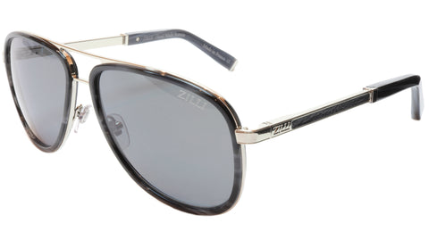 ZILLI Sunglasses Titanium Acetate Leather Polarized France ZI 65017 C03 156