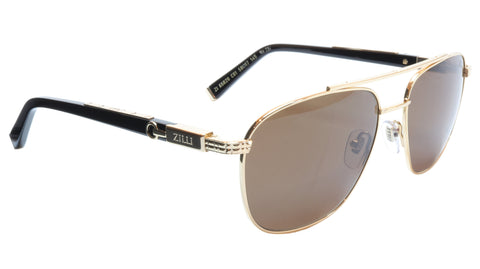 Image of ZILLI Sunglasses Titanium Acetate Polarized Bright Gold France ZI 65020 C01 234