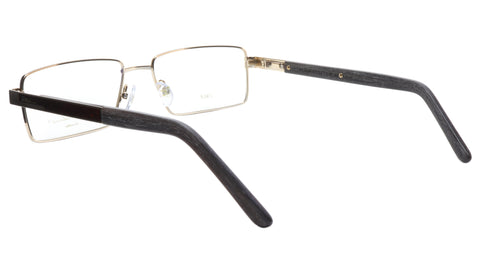 Image of Paul Vosheront Eyeglasses Frame PV304B C1 Gold Plated Wood Italy 57-17-145 32