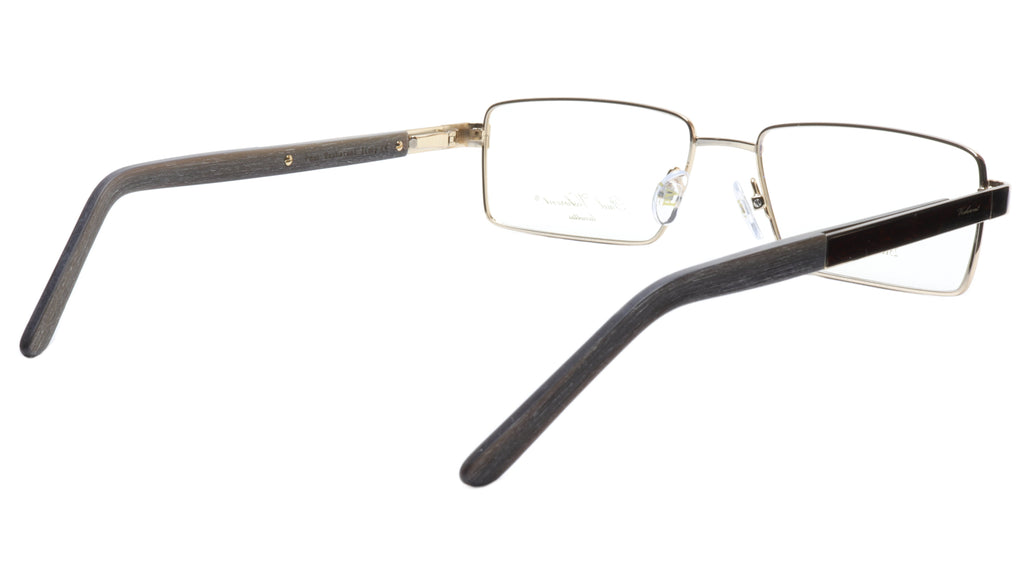 Paul Vosheront Eyeglasses Frame PV304B C1 Gold Plated Wood Italy 57-17-145 32