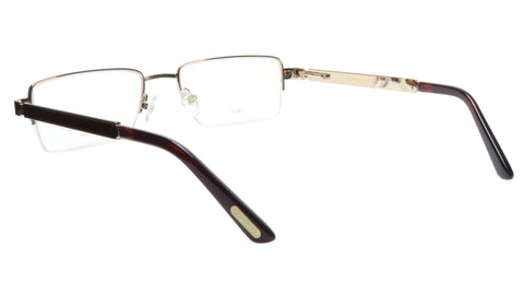 Image of Paul Vosheront Eyeglasses Frame PV339 C1 Gold Plated Wood Italy 56-19-145 31