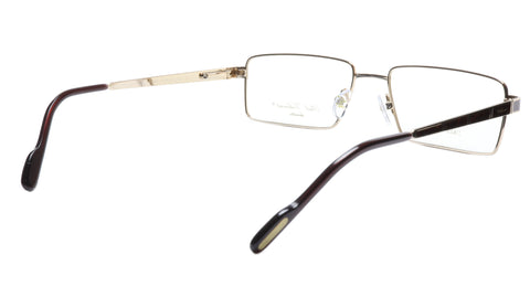 Image of Paul Vosheront Eyeglasses Frame PV323 C1 Gold Plated Wood Italy 57-17-145 32