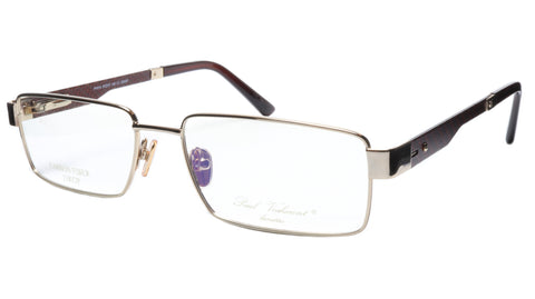 Paul Vosheront Eyeglasses Frame PV314 C1 Gold Plated Carbon Italy 57-17-145 31 - Frame Bay