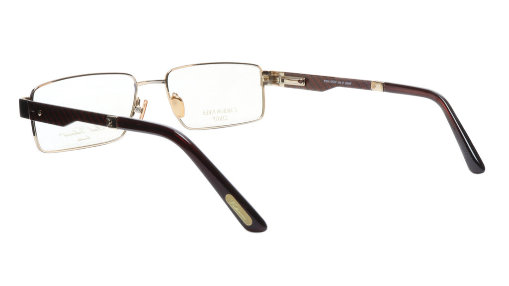 Paul Vosheront Eyeglasses Frame PV314 C1 Gold Plated Carbon Italy 57-17-145 31