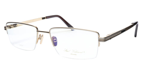 Paul Vosheront Eyeglasses Frame PV373 C1 Gold Plated Acetate Italy 57-19-145 35 - Frame Bay