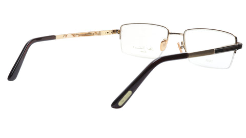 Paul Vosheront Eyeglasses Frame PV373 C1 Gold Plated Acetate Italy 57-19-145 35